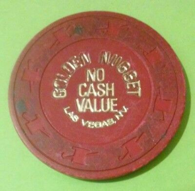 1980s GOLDEN NUGGET CASINO LAS VEGAS, NEVADA HARD TO FIND $5.00 POKER NCV CHIP!