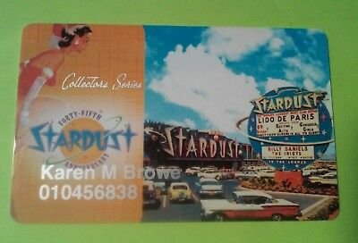 Stardust Casino Las Vegas, Nevada Logo Slot Players Card Great For Collection!