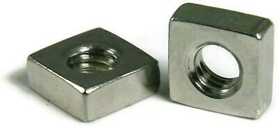 18-8 Stainless Steel Square Nuts Four-Sided Nuts - Coarse and Fine - Select Size