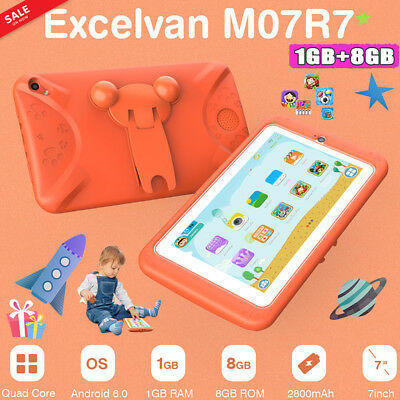 """7"""" Kids Tablet PC Android 6.0 1+8GB Quad Core Dual Camera Wifi Gift External 3G"""