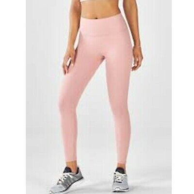d1e6d4b9f94192 NWT Fabletics High-Waisted Solid PowerHold 7/8 Legging Rosebloom Pink (Size  XS