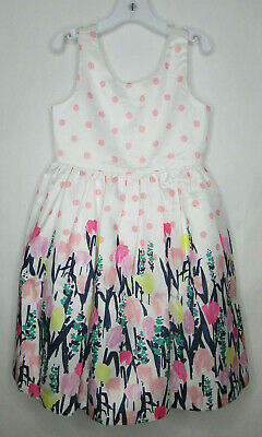 NWT Gymboree Fun and Fancy Watercolor Flower Dress Spring Girl Size 6