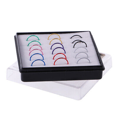 36pcs Stainless Steel Nose Ring Hoop Tragus  Earrings MultiColor