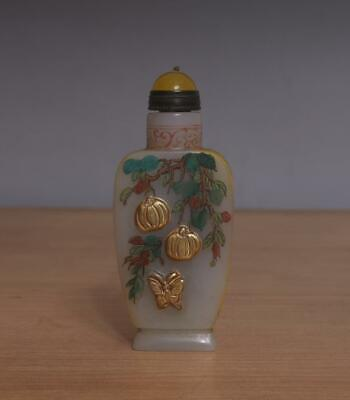 Qianlong Signed Antique Chinese Hand-painted Snuff Bottle
