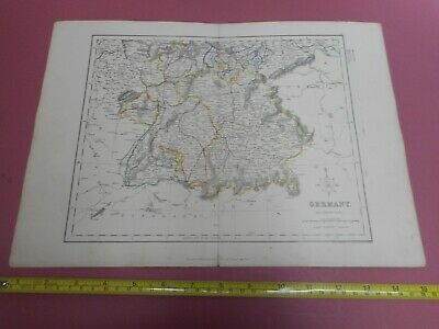 100% Original Southern Germany  Map By H G Collins C1856  Low Start
