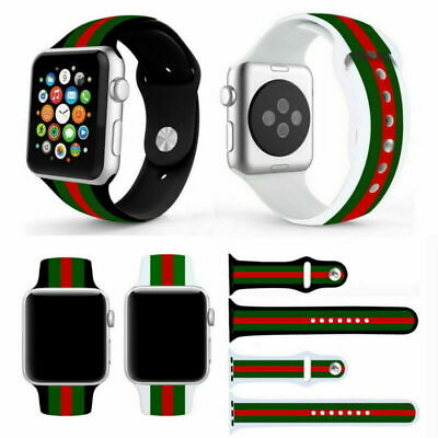Black/Red/Green  Pattern Band For Apple Watch 38/42/40/44mm iWatch