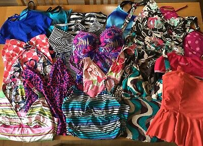 Joblot Of Ladies Swimwear -  Bikini Tops, Bottoms & Tankini Tops 21 Items