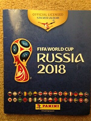 Fifa World Cup Russia 2018 Sticker Album 30-40% Complete