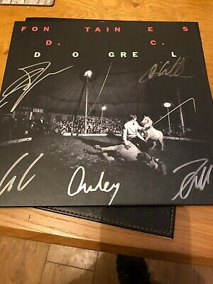 Fontaines Dc 'dogrel' 2019 Limited Edition Fully Signed Yellow Vinyl Lp Album