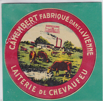 L1060 Fromage Camembert Chevaufeu Vienne Cachet Rouge De Syndicat