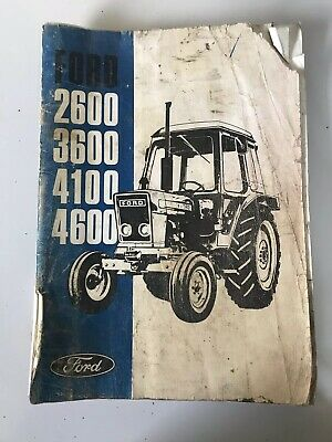 Ford 2600 3600 4100 4600 Operators Manual Original UK Print REF No. SE 3854