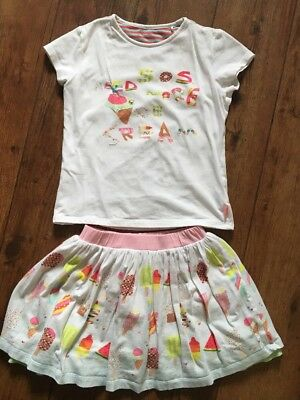 Oilily Outfit Set Age 10 Skirt & T Shirt Sequin Stunning Condition
