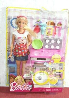 Mattel- Barbie Careers Bakery Chef Doll and Playset