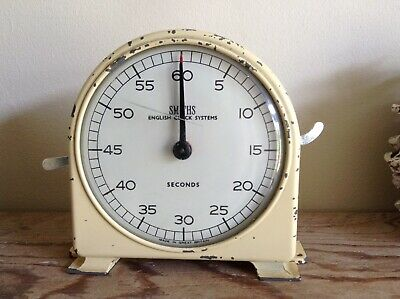 Vintage Industrial Rare Smiths Seconds Clock Process Timer English Clock Systems