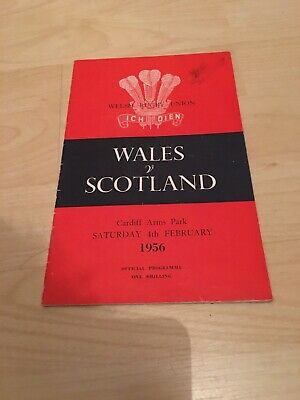1956-Wales V Scotland-Five Nations Champions-International Rugby Union Programme