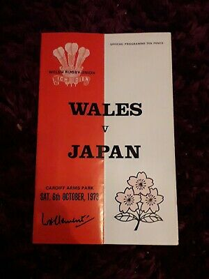 1973-Wales V Japan-International Tour Match-Rugby Union Programme