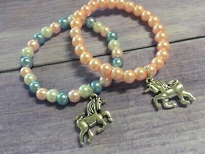 Unicorn Bracelet, Beaded Handmade Child's Unicorn Bracelet, Colour Choice