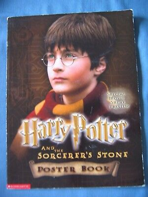 2001 HARRY POTTER & SORCERER'S STONE Poster Book Special Movie Sneak Preview PB