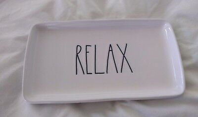 """Rae Dunn """"Relax"""" 9 x 5 Tray - New!"""