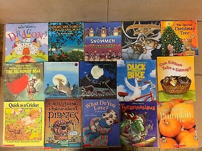 Lot of 30 Scholastic Classroom Teacher Reading Bedtime-Story Time Child Book 1A1