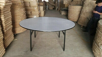 Commercial fold away cafe table, 1650mm seat 8 to 10, base folds up,
