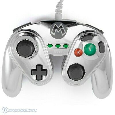 Wii U - official Wired GameCube gamepad / Pad #Metal Mario Fight Pad [pdp]