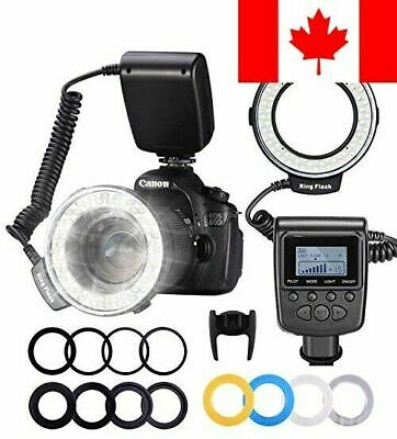 Neewer 48 Macro LED Ring Flash Bundle with LCD Display Power Control, Adapter...