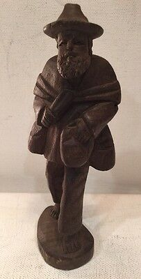 Collectible Hand Carved Wood Man Figurine