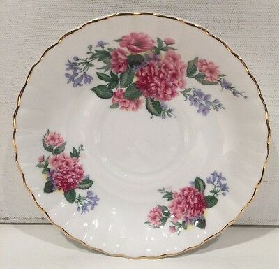 Crown Dorset Fine Bone China Saucer Made In England Collectible Multicolored