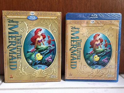 Disney THE LITTLE MERMAID (Blu-ray/DVD/Digital Code, Diamond Edition) BRAND NEW