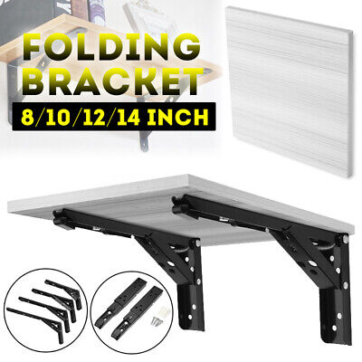 2X Stainless Steel Folding Table Bracket Shelf Bench 8/10/12/14' Load Heavy  AU