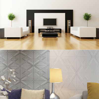 Lots PE Foam 3D Self Adhesive DIY Panels Wall Sticker Brick Stone Home Decor