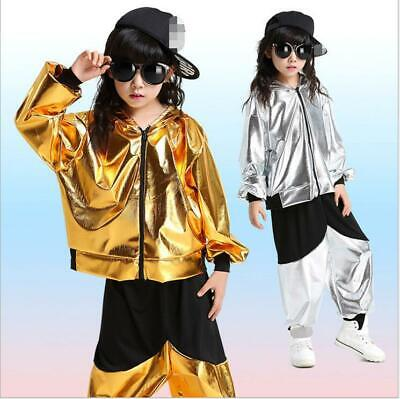 Men And Women New Costumes Dance Street Dance Performance Bright Leather Clothes