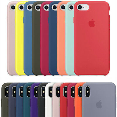 Original Silicone Case For Apple IPhone X Xs Max XR 7 8 Plus Genuine OEM Cover