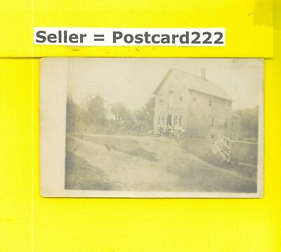 NY Ladleton area 1907 rare RPPC real photo postcard HOME OR STORE people