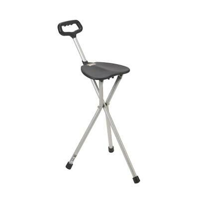 Drive Medical Deluxe Folding Cane Seat 34'' to 38'' Black -1 Count