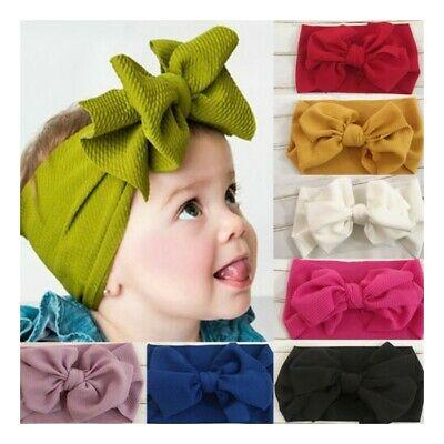 Baby Kids Newborn Infant Princess Big Turbon Bowknot Headband Hair Band Hairband