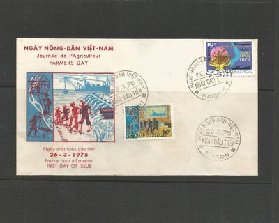 """Vietnam 26th March 1975 """"Farmers Day"""" First Day Cover AS12"""