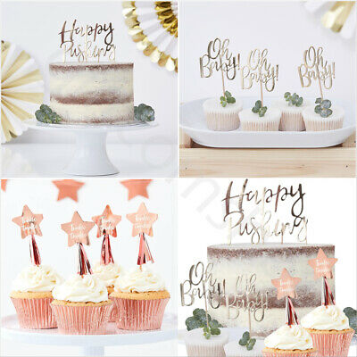 Oh Baby Shower Cake Topper Cupcake Toppers Picks Happy Pushing Twinkle Twinkle