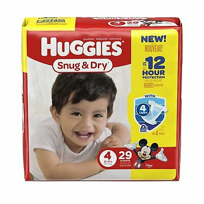 HUGGIES Snug and Dry Diapers Jumbo Pack Size 4 Pack of 29