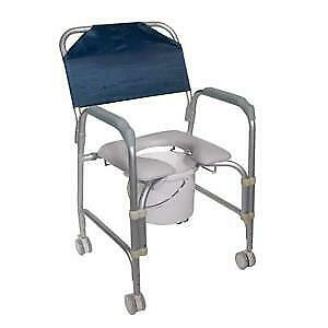 Drive Medical Aluminum Shower Chair and Commode 300 lb Weight Capacity