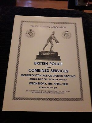 1988-British Police Xv V Combined Services-Representative-Rugby Union Programme