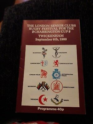 1980-Charrington Cup-London Senior Clubs-Rugby Union Festival Programme