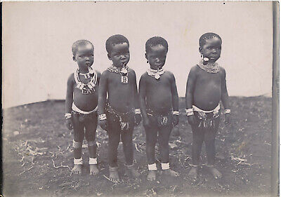 South Africa c. 1900 - Enfants Zoulou et Pipes Humour Colonial - Af 101