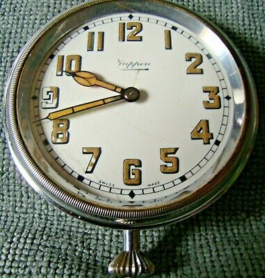 Art Deco Vintage Mappin Car Clock Working Keeps Great Time 12051-Inside Case 641