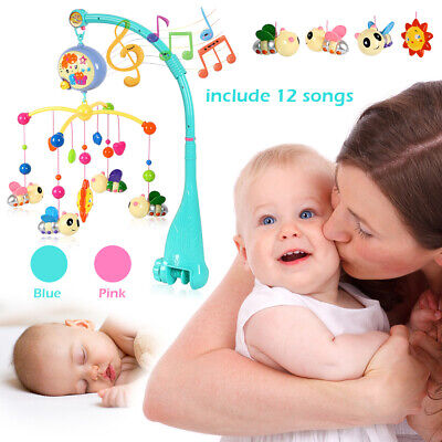 Star Dream Nursery Sound Arm Toy Baby Rotary Musical Bed Bell Crib Cot Mobile AU