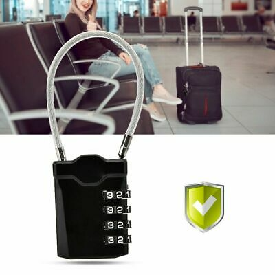 TSA Security 4 Digit Combination Travel Suitcases Luggage Bag Code Lock Padlock