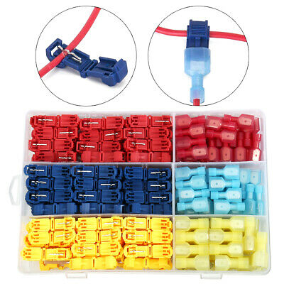 240x Electrical Cable Connectors Quick Splice Lock Wire Crimp Terminal 10-22AWG