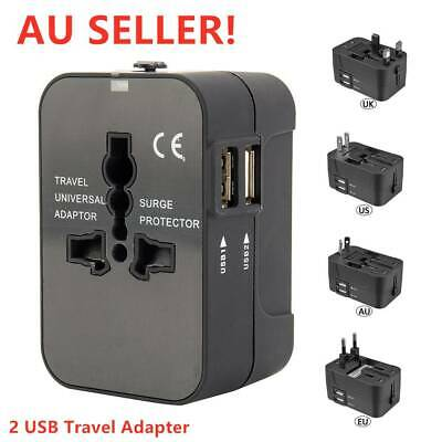 World Wide Universal Charger Travel Adapter Multi Plug with Dual USB 2 PORT