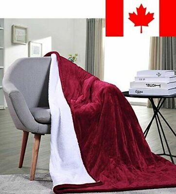 MaxKare Electric Heated Throw Blanket with Auto Shut Off Fast-Heating Sherpa ...